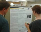 photo of Fiona Serack and her poster